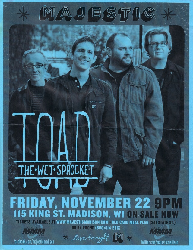 Toad The Wet Sproket Majestic Madison 11222013