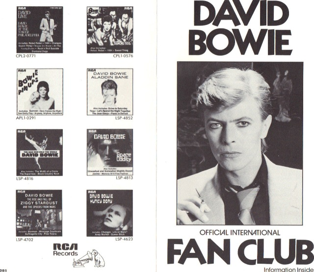 David Bowie Fan Club 2