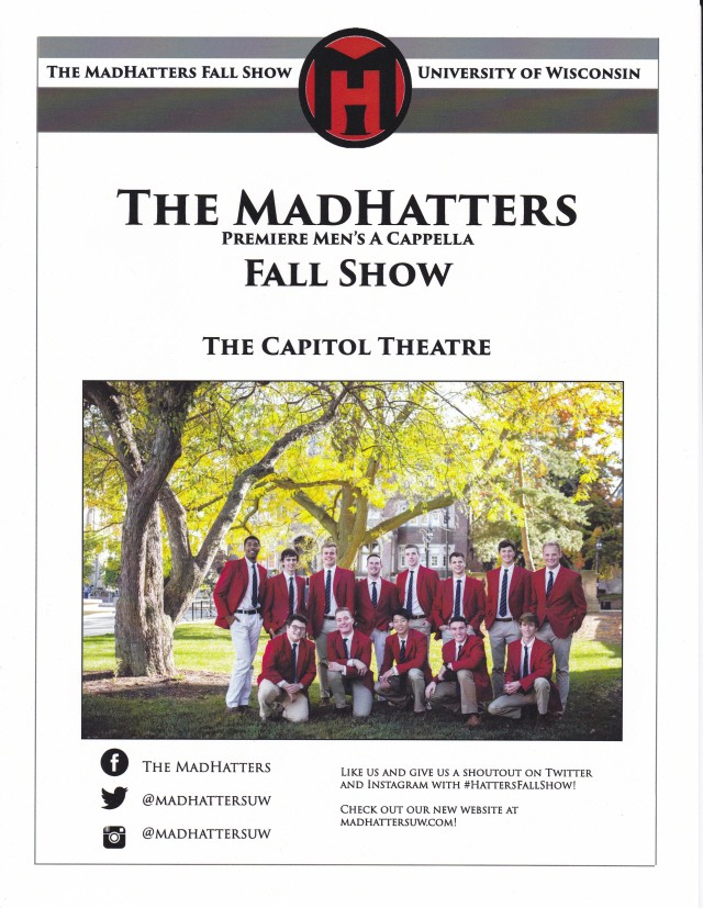 Mad Hatter Fall Show Cover