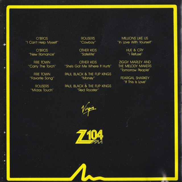 Z104 The Beat Of The City II Back Cover