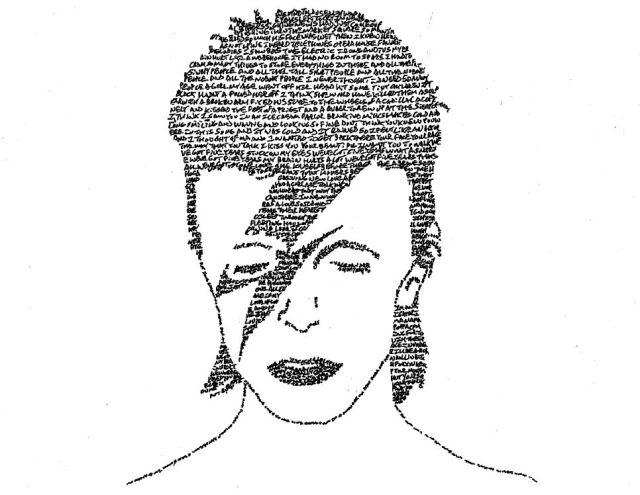 David Bowie Lyric Portrait