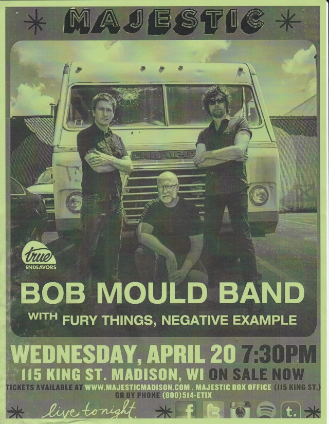 Bob Mould Band Majestic 04202016